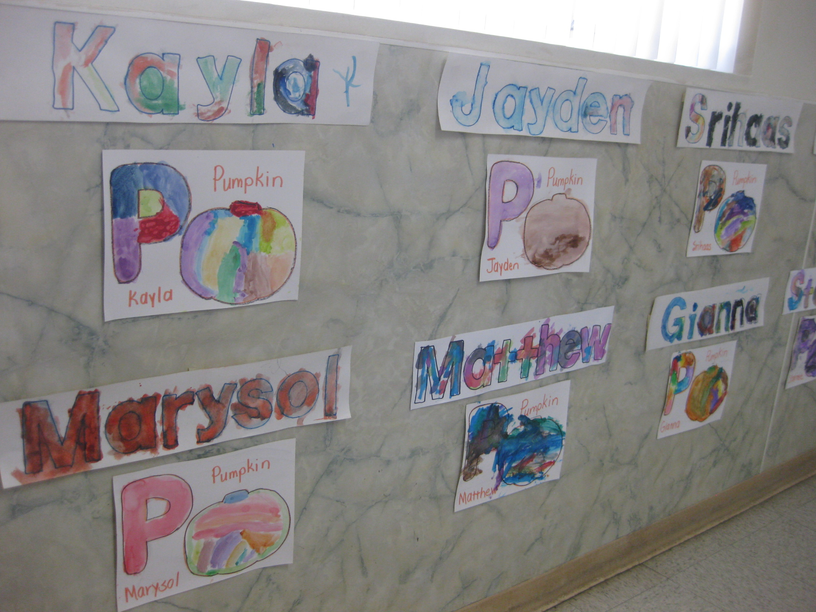 Children's Sample Letters Artwork